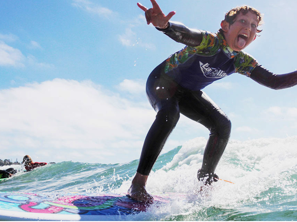 kids have fun at surf