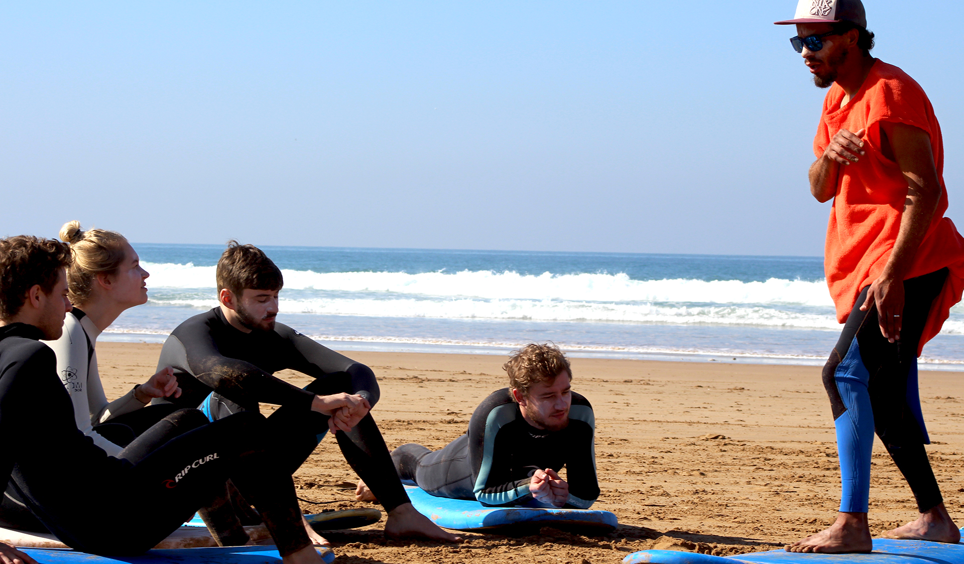 group surf session
